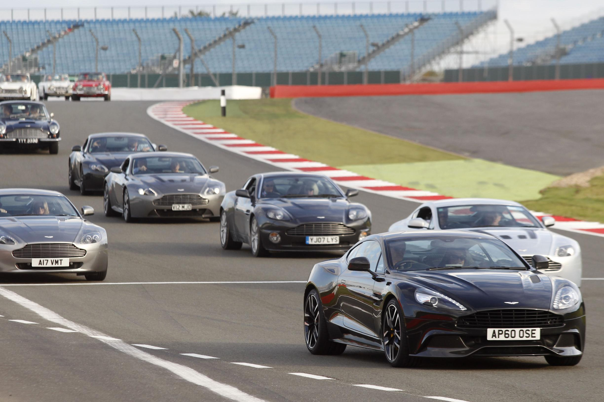 Aston Martin at Silverstone Classic Anniversary - Just British