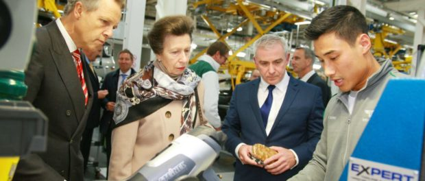 HRH The Princess Royal Opens New Bentley Motors Research and Development Centre