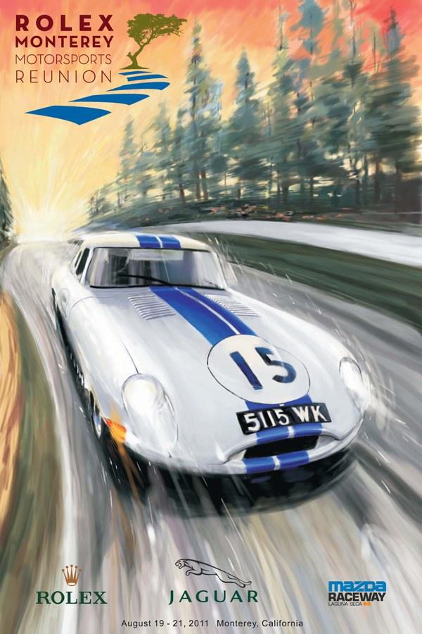 Monterey Poster 2011 - Jaguar E-Type