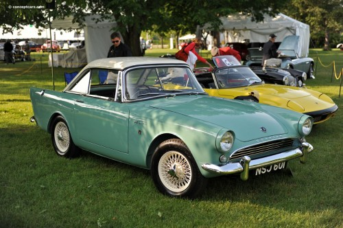 Sunbeam Alpine at Greenville Great Scots car show