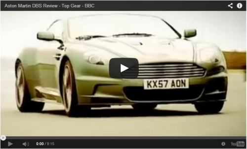 Aston Martin Top Gear on Youtube