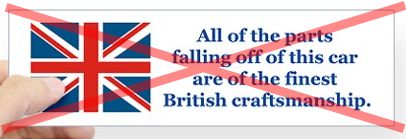 British Car Bumper Sticker - No Value