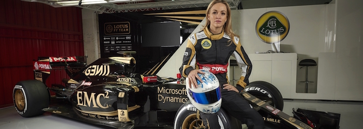 F1 Lotus Team with Carmen Jorda
