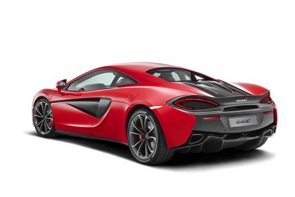 McLaren 540c Rear 3/4 View