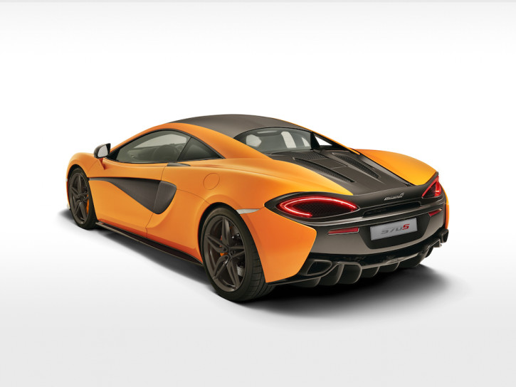 McLaren 570S Orange Rear Quarter NY
