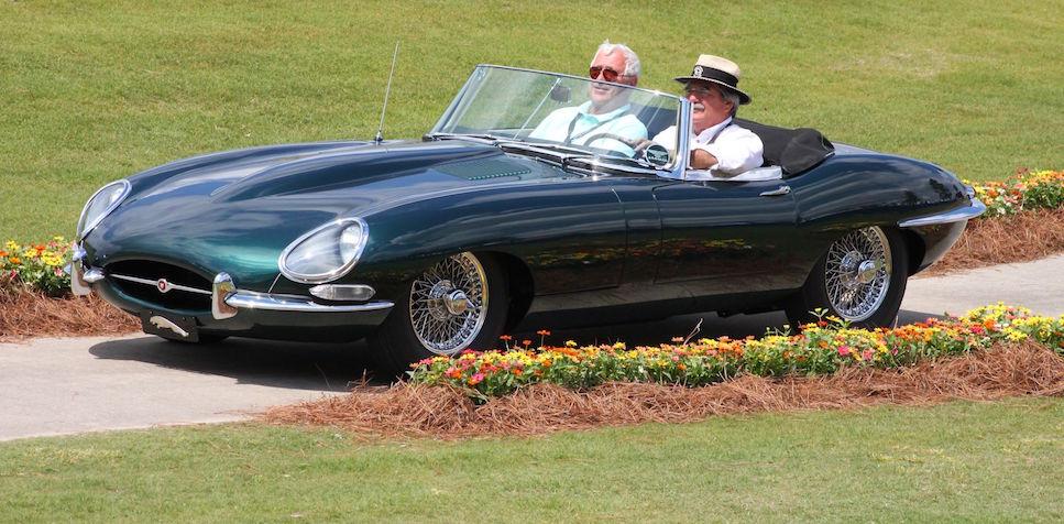 1967 Jaguar E-Type at Pinehurst Concours 1