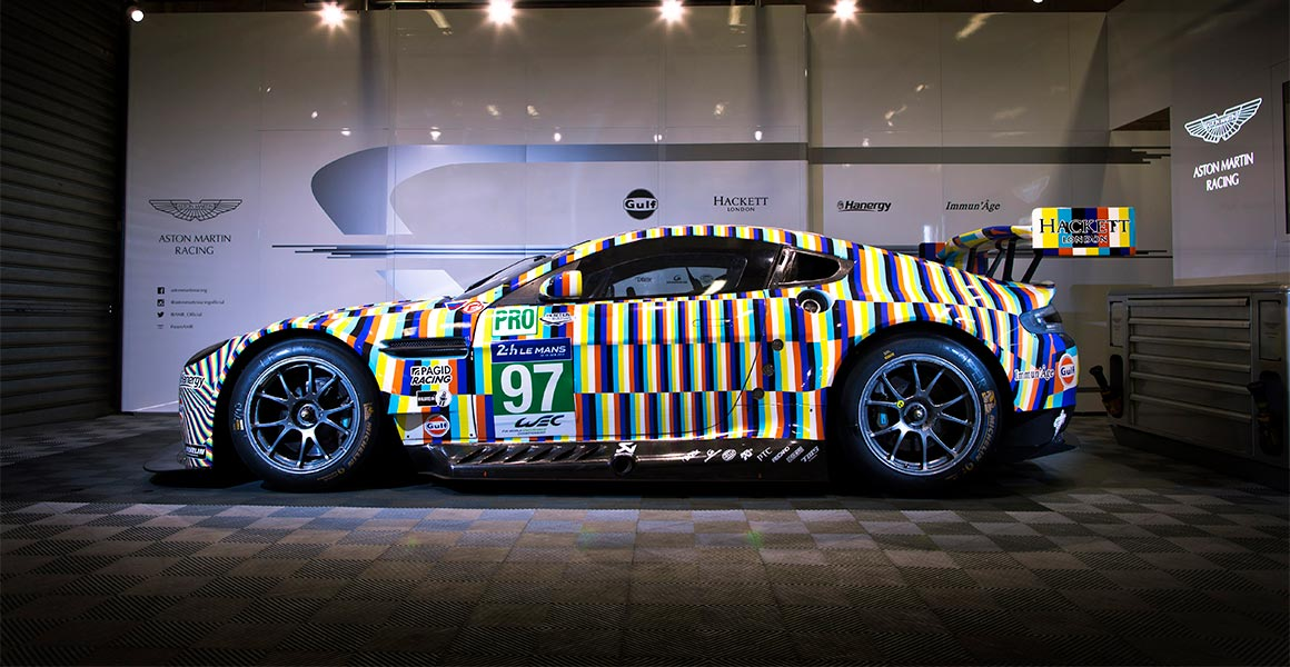 Aston Martin Unveils Le Mans Art Car Just British - Aston martin marin