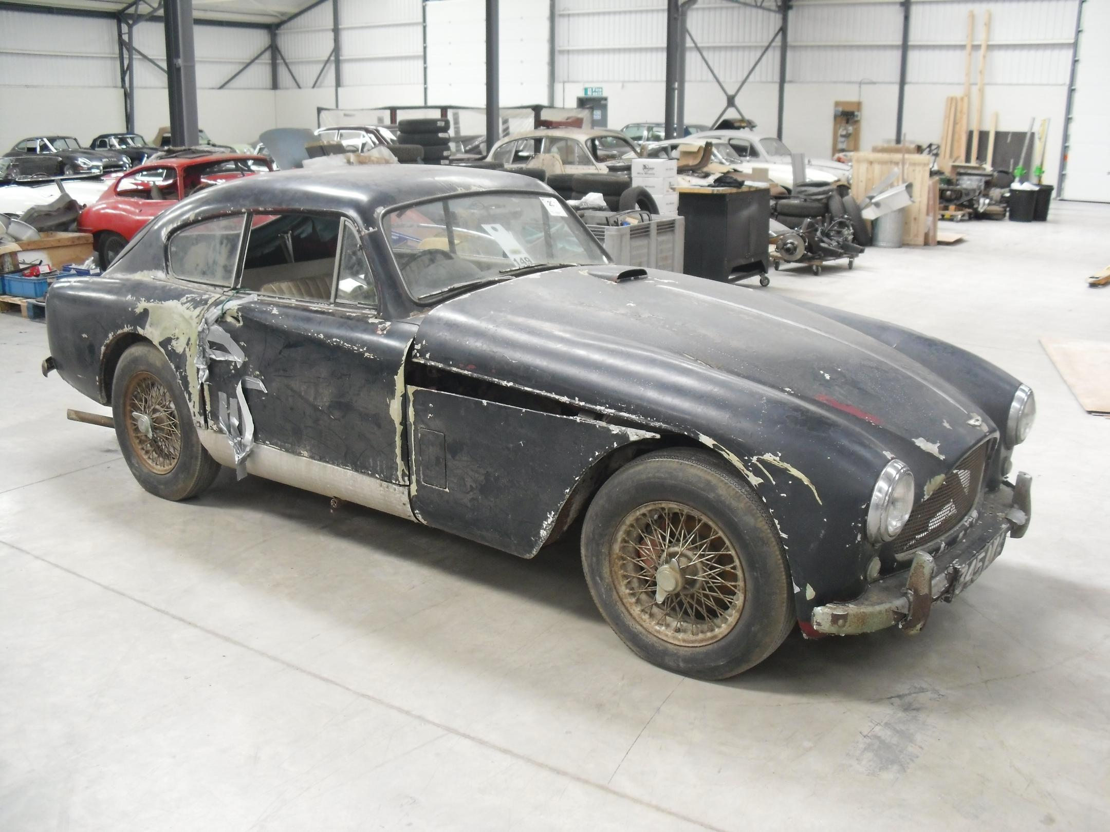 Rare Barn Find Aston Martin DB To Be Restored Just British - Aston martin restoration project for sale