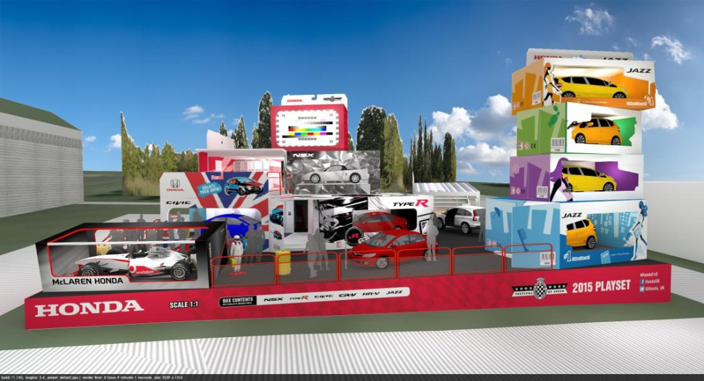 Honda UK stand design for Goodwood Festival of Speed