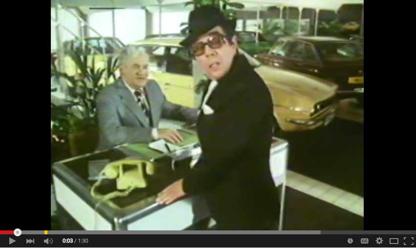 Austin Morris Cars 'The Great Range' The Two Ronnies' 1979