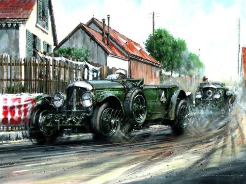 Le Mans 1930 painting