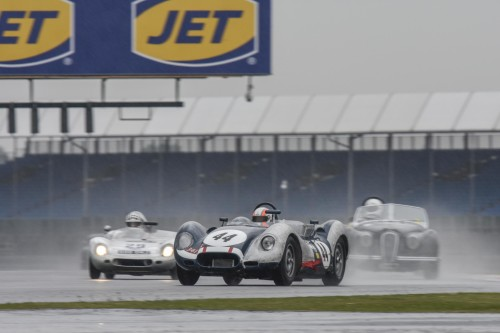 Lister Cars on the podium at Silverstone Classic
