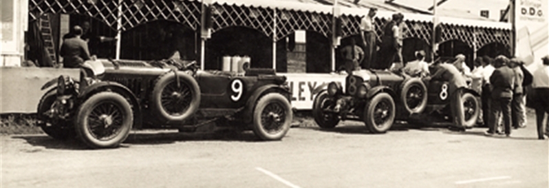 Two Blowers outside the pits on practice day - Le Mans 1930