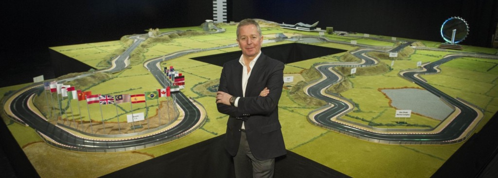 Martin Brundle in front of his ultimate race track.