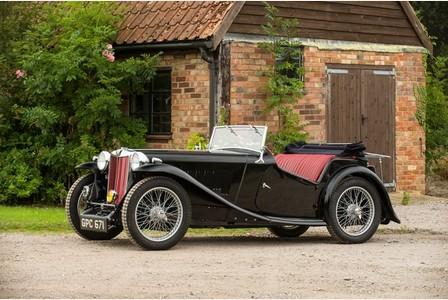 MG TA car owned by RAF hero Douglas Bader