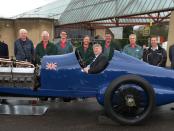 350 Sunbeam with restoration team
