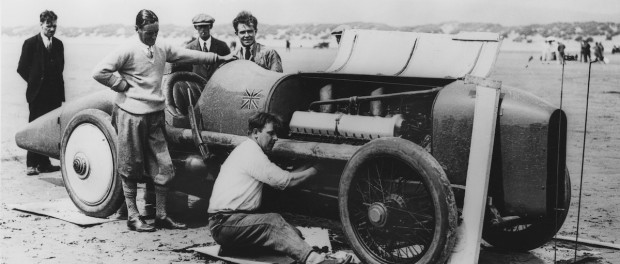 350hp Sunbeam with Malcolm Campbell, Pendine Sands