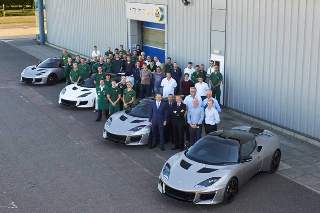 Lotus Evora 400 at Factory