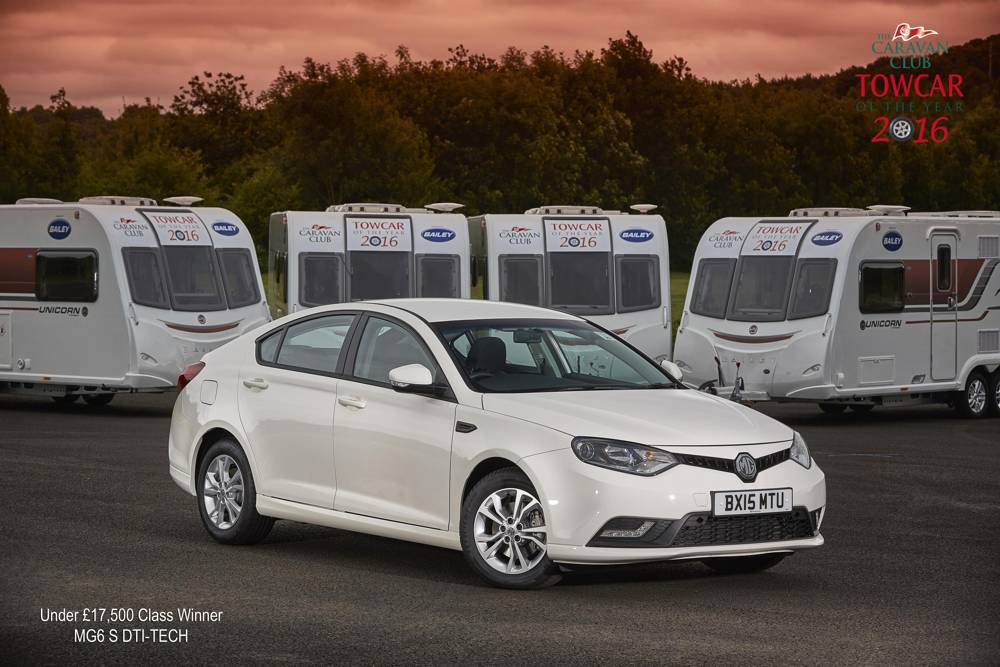 MG6 S DTI-TECH, Under £17,500 Class Winner, Towcar Awards 2016