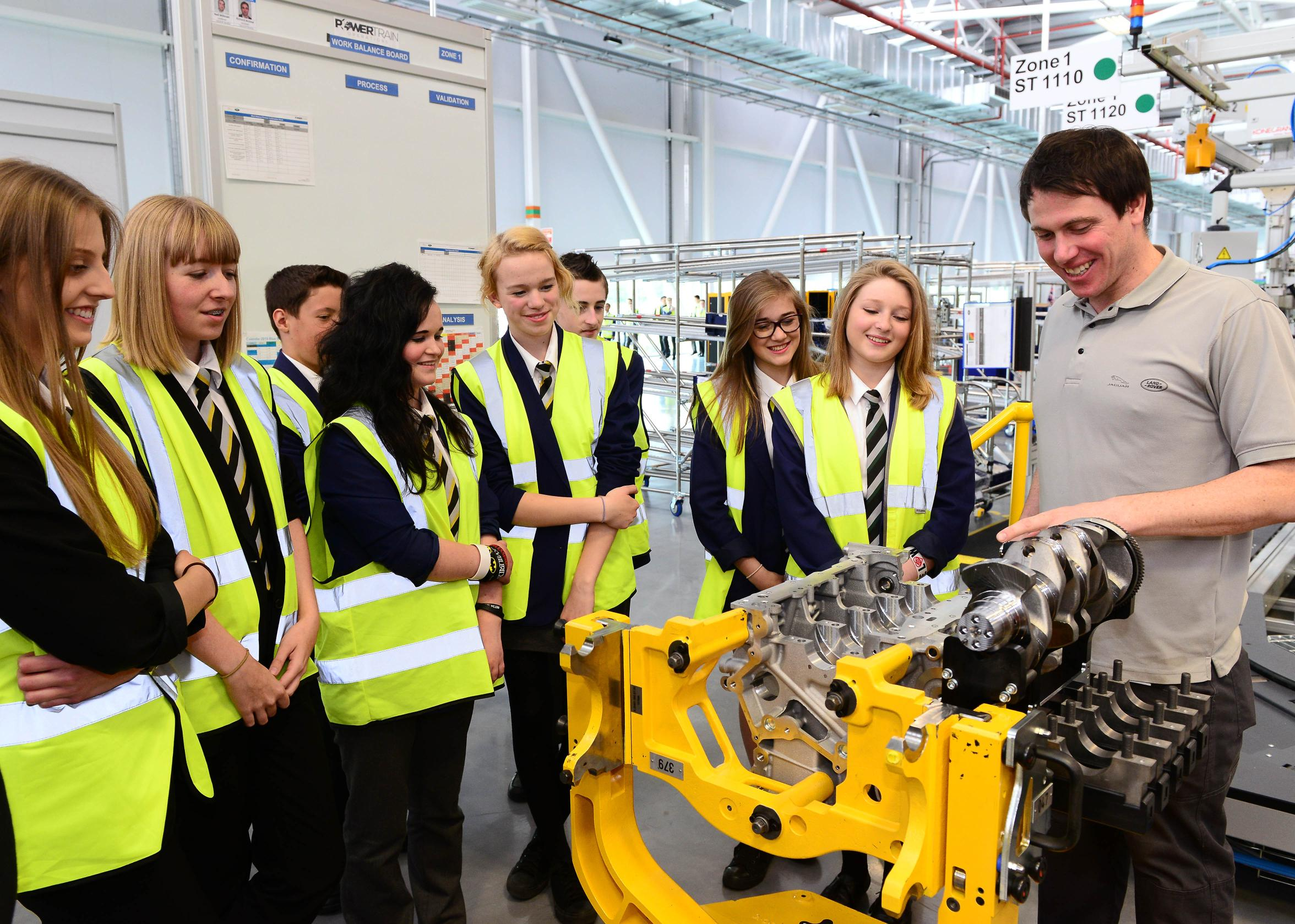 Young people visit the EMC