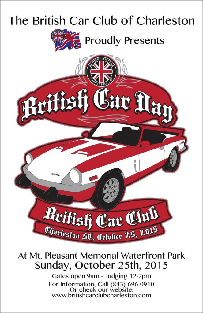 2015 Poster For Charleston British Car Day
