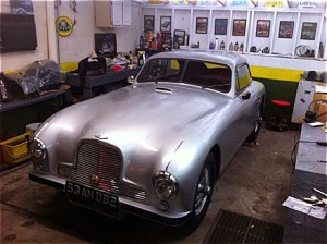 Aston Martin In The Shop