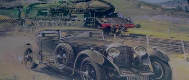 Bentley's Desert Train - Painting
