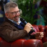 Ross Brawn being interviewed on the Live Stage
