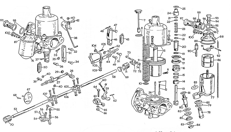 SU Carburetor Diagram