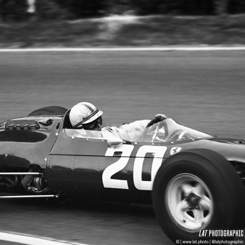 1964 Solitude Grand Prix. Solitude, Germany. 18th - 19th July 1964. John Surtees (Ferrari 158), 2nd position, action. World Copyright: LAT Photographic. Ref: 25827.