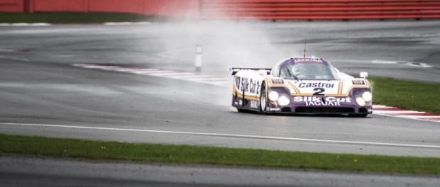 Andy Wiallace drives Jaguar XJR and XJR9-LM at Silverstone - Picture Credit Anthony Cullen_AJC4223