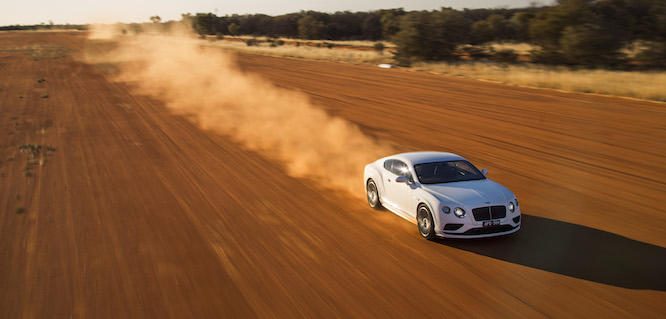 Bentley Continental GT Speed- Vmax in the outback