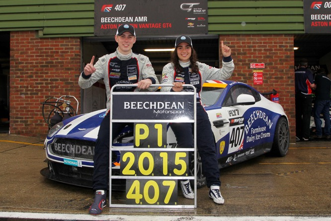 Ross Gunn and Jamie Chadwick - British GT4 Champions
