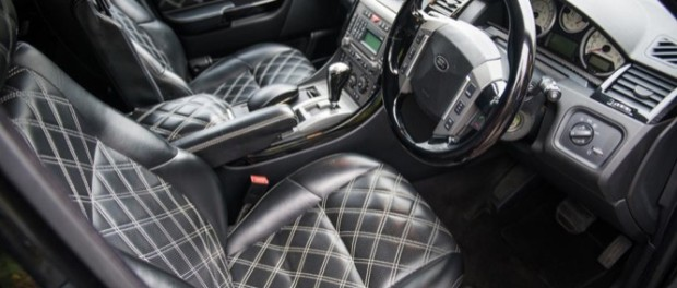 With every optional extra conceivable included, inside the Range Rover features a unique interior with hand-stitched quilted leather seats