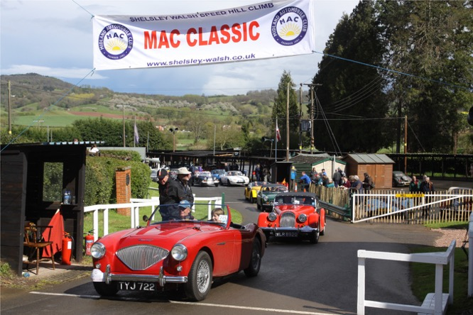 3. MAC Classic finish at Shelsley Walsh Hill Climb. Photo Andrew Davis