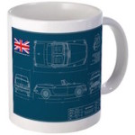 MG Blueprint Mug
