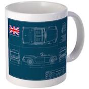 MG Blueprint Mug