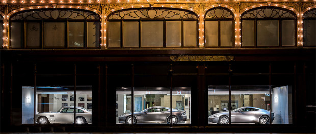 Aston Marin Window shopping at Harrods -2