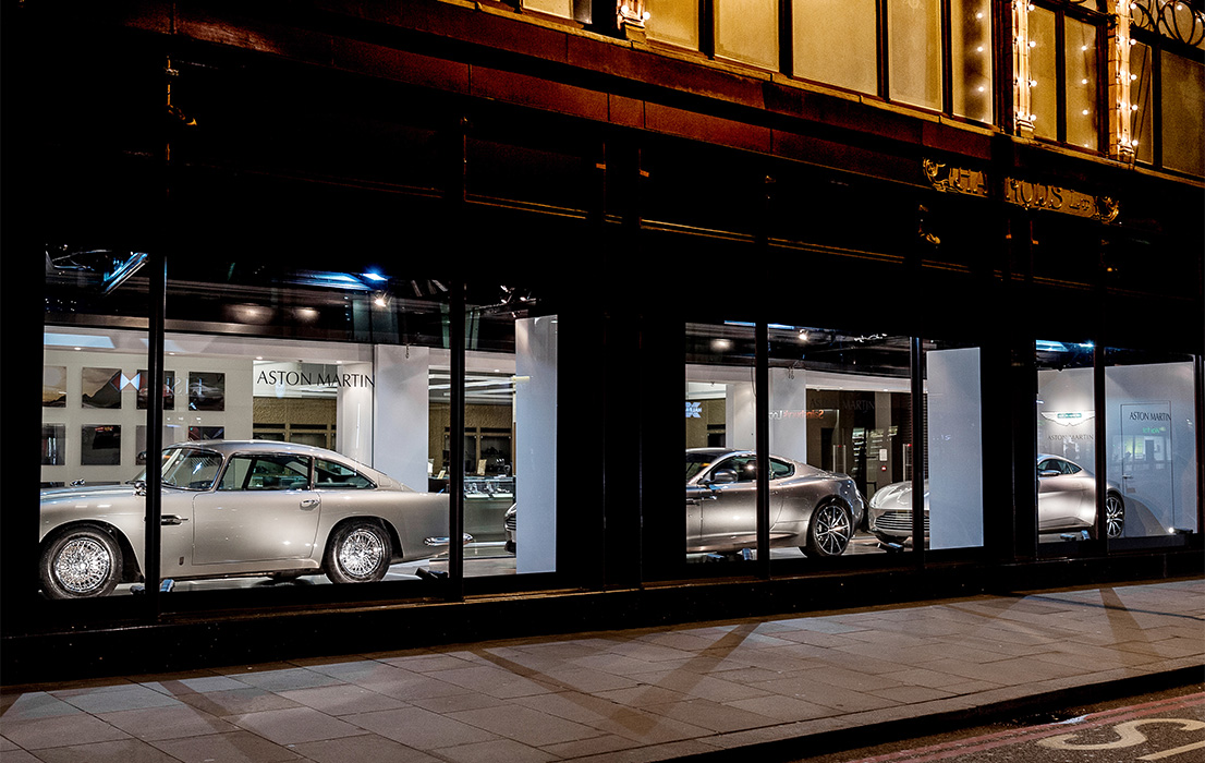 harrods aston martin window shopping just british. Black Bedroom Furniture Sets. Home Design Ideas