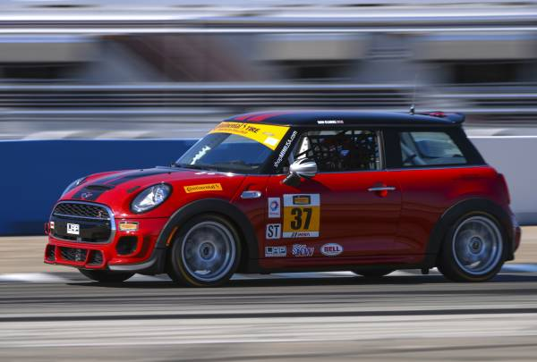 The MINI John Cooper Works #37 car at Sebring International Raceway in Sebring, Florida. (03/2015) Foster Peters Photography