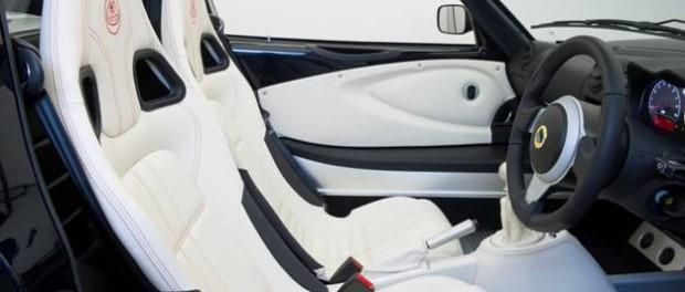 Lotus cars interiors are skilfully hand sewn at the Lotus headquarters in Hethel, Norfolk.