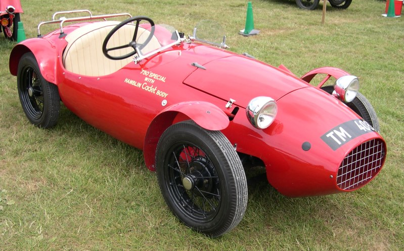 A conversion of a pre-war Austin 7 into a road legal sports car