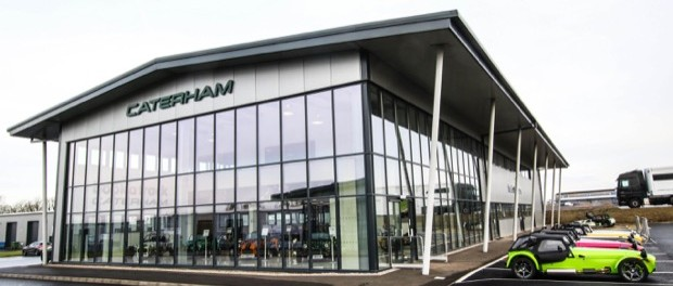 Caterham celebrates the launch of its new dealership at Donington