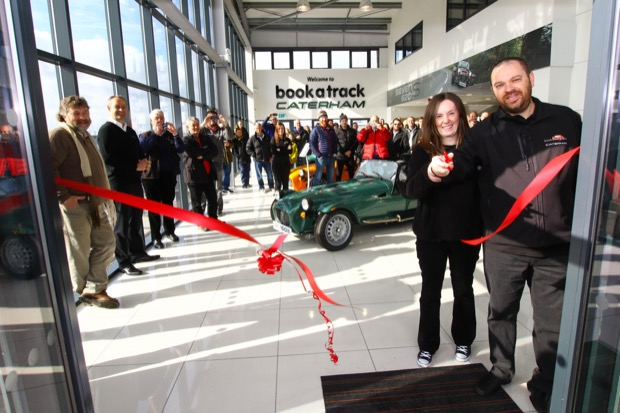 Caterham celebrates the launch of its new dealership at Donington - Ribbon Cutting