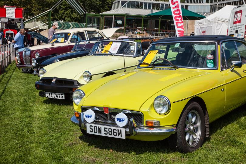 Beaulieu Simply Classics and Sports Car MG club display