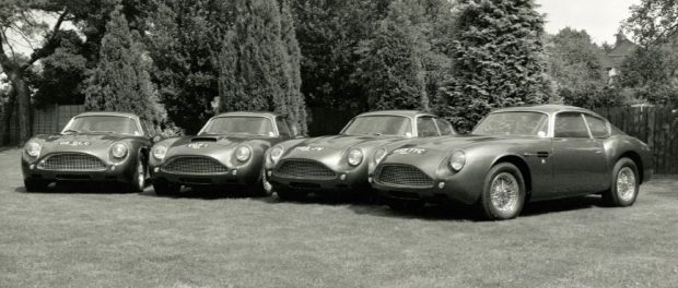 Historic Astons at King's Cross - credit Aston Martin Heritage Trust