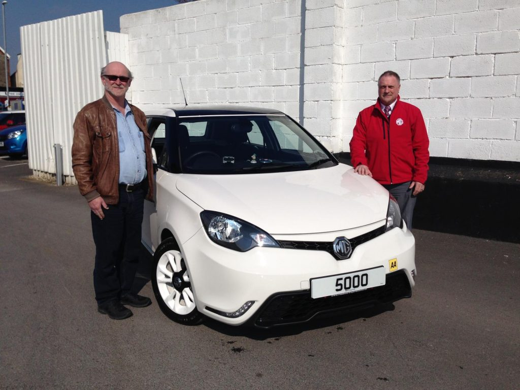 Martyn Watchurst with his new MG3, the 5,000th sold