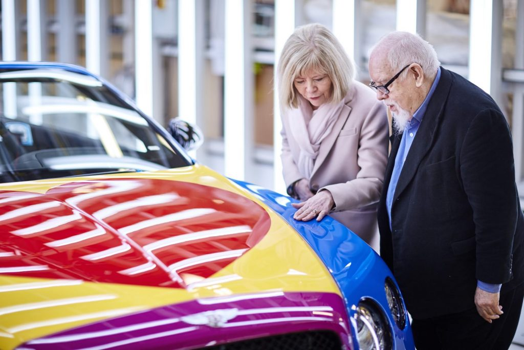 Sir Peter Blake Pop Art Bentley set to raise thousands for Charity (1)