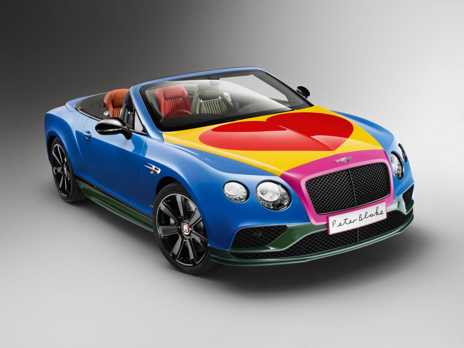 Sir Peter Blake Pop Art Bentley To Raise Money For Charity