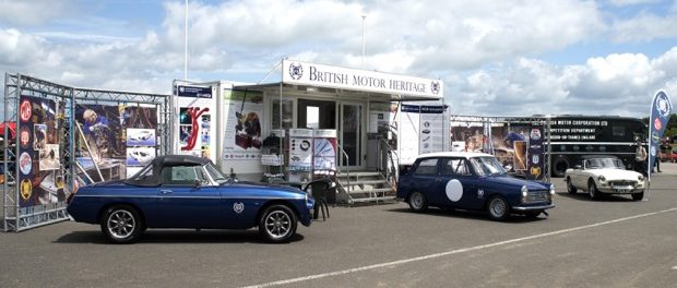 The British Motor Heritage BMH stand at last year's MGLIVE!
